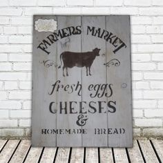 """""""Farmer Market"""" Honestly who wouldn't want this rustic hand-made wooden sign in their kitchen? Made by Ethical Village"""