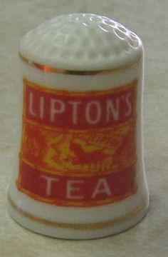 Lipton's Tea Thimble Franklin Porcelain | eBay