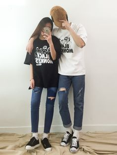 Korean Fashion: Couple Look♥  Great outfitideas/looks for couples to wear                                                           ...