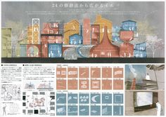 Japan Architecture, Architecture Board, Architecture Design, Toilet Signage, Architecture Presentation Board, Archi Design, Arch Model, Concept Diagram, Landscape Pictures