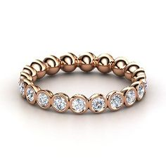Pod Eternity Band, Rose Gold Ring with Diamond from Gemvara; love in rose gold, yellow and white gold for stackables