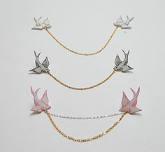 Swallow tattoo collar clips by kirstinstride on Etsy