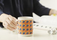 "【 Y-TECH マグカップ 】 女性の""日々のこころのつぶやき""がモチーフとなっている 「こころもよう」のデザインテーマにぴったりのマグカップ。 お気に入りの雑貨として日常に溶け込みます。 Mugs, Tableware, Dinnerware, Tumblers, Tablewares, Mug, Dishes, Place Settings, Cups"