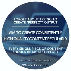 """I often fall foul of the """"perfectionism trap"""" where I end up not shipping something I've created because I can't make it """"perfect"""". I need to lower the bar ever so slightly and be prepared to ship things I am not 100% comfortable with. This doesn't mean throwing standards out the window but shipping high quality content more often."""