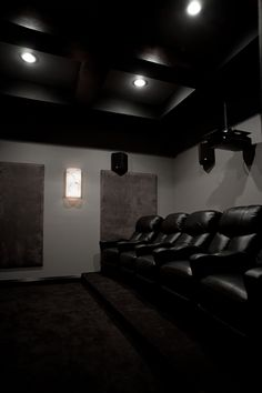"""RobZ's Cozy Theater Room 148"""" 2.35:1 ratio in a 14' room. 2 of 2."""
