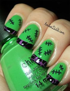 Halloween Acrylic Nail Art Designs, Ideas