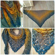 Crochet shawl Háčkovaný šátek z duhového klubka č. 144