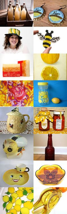 Summer Shandy SHP Blitz 121 by Jenny LK Doughty on Etsy--Pinned with TreasuryPin.com #summershandy #lemon #lime #honey #ginger #sunshine #beverage