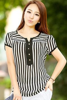 Blouses for women – Lady Dress Designs Sleeveless Cardigan, Cardigan Outfits, Striped Jeans, Look Chic, Dress Patterns, Blouse Designs, Blouses For Women, Plus Size Fashion, Fashion Dresses