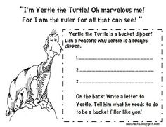 Yertle the Turtle Freebie