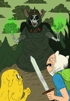 Finn and Jake Vs The Lich King by ~burnay on deviantART
