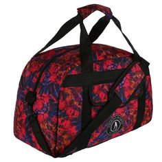 Bold And Beautiful, Tikiboo's Delirium Gym Bag Features An Explosive Fuchsia Pink, Purple And Orange Tie-Dye Print. Stand Out In The Gym With A Unique Holdall That's Perfect For Holidays And Travels Too. Orange Tie, Gym Bags, Pink Purple, Studs, Tie Dye, Pouch, Base, Pocket, Holidays