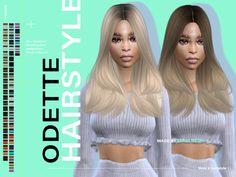 All Hairstyles, Bandana Hairstyles, Female Hairstyles, Sims 4 Mac, Sims Cc, Pelo Sims, Sims Four, Sims 4 Characters, Sims 4 Cc Packs