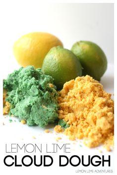 Lemon Lime Cloud Dough Recipe