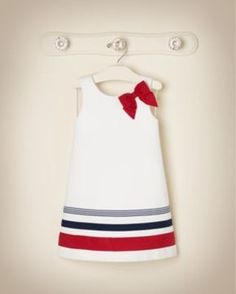 Janie jack fourth of july 5 6 13 Dresses Kids Girl, Little Girl Dresses, Kids Outfits, Toddler Dress, Baby Dress, Toddler Girl, Infant Girls, Sewing For Kids, Baby Sewing