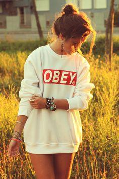 I've been wanting an Obey sweatshirt