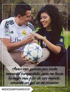 imágenes de fútbol con frases de amor para dedicar a mi novia