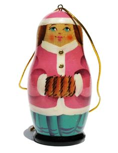 Cute country girl ornament, reminds me of the matryoshka dolls / Russian nesting dolls
