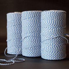 Katoen touw naturel/jeansblauw - Katoen touw - kadopapier.net
