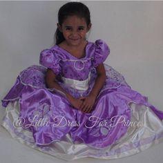 Princess Sofia Dress, Princess Sofia The First, First Birthday Dresses, Birthday Girl Dress, Dress Girl, Sofia Costume, First Girl, Girl Costumes, Spring Dresses