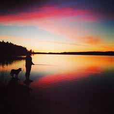 Sunset in Puruvesi