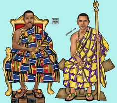 26-year-old Ghanaian-born New York artist Dennis Owusu-Ansah Reimagines Black Celebrities in Traditional African Dress- Martin Luther King and Barack Obama
