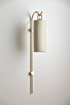 staff wall sconce, brass