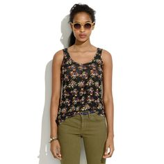 Jen: Linen Tank in Mountain Floral - tees & more - Women's NEW ARRIVALS - Madewell