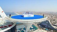 Boxing champion Anthony Joshuas fight in the sky in Dubai on the Burj Al Arab Helipad | Visit Dubai