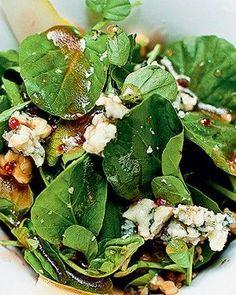 Salada de agrião, peras e vinagrete de geleia de framboesa (Foto: Ricardo Corrêa/Casa e Comida)