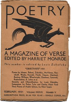 "February 1931 issue of POETRY: ""Objectivists"""