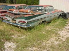 Classic Car News Pics And Videos From Around The World Chevrolet Impala 1959, Abandoned Cars, Abandoned Vehicles, Rust In Peace, Rusty Cars, Car Crash, All Cars, Barn Finds, Missouri