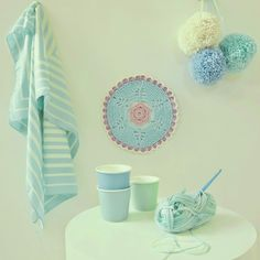 So much pastel prettiness from the crochet blog By Haafner. Check out some more gorgeousness via the link…