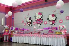 Hello Kitty Theme Party, Hello Kitty Themes, Hello Kitty Birthday, Kids Party Decorations, Party Ideas, Cat Party, Birthday Party Themes, Birthdays, Pocahontas