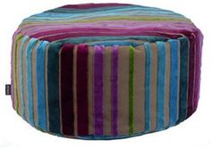 Heal's Designers Guild Moyka Pink/Turquoise Stripe Bean Drum from Heal's