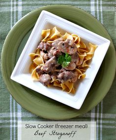 Slow Cooker Beef Stroganoff {Freezer Meal} needs a few modifications to make it THM friendly