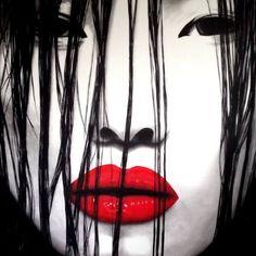"Saatchi Art Artist Kris Cieslak; Painting, ""Shy one"" #art"