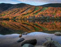Echo Lake, Franconia, New Hampshire (Image by Len Saltiel) - Reflections ...