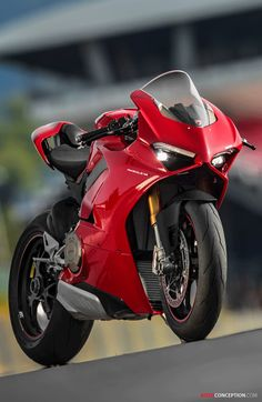 Ducati has revealed the new Panigale ahead of the bike's official global public debut at the EICMA show later on this week. Replacing the 1299 at the top of the company's supersport range, the new model is the first mass-produced Ducati bike to […] Moto Ducati, Ducati Motorbike, Ducati Hypermotard, Ducati Diavel, Moto Bike, Ducati Scrambler, Triumph Motorcycles, Custom Motorcycles, Custom Bikes
