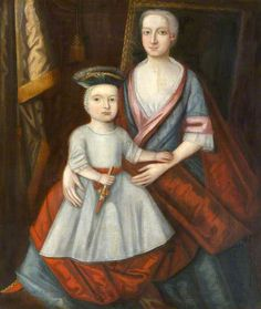 Portrait of a Lady, Her Child on Her Lap. Baltic School