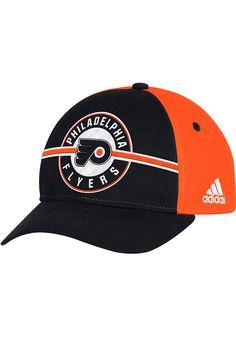 6bdd715b3b8 Adidas Philadelphia Flyers Mens Black Circle Hook Adjustable Hat