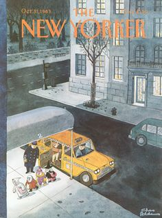 The New Yorker - Monday, October 31, 1983 - Issue # 3063 - Vol. 59 - N° 37 - Cover by : Charles Addams
