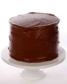 Not my favorite...but His.... Yellow Butter Cake with Chocolate Frosting