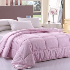 Soft 100% Wool Comforters Beautiful Lavender Duvet Insert Kids Skin Friendly Quilt And Comforter