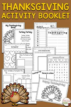 This book is full of fun Thanksgiving Activities for kids! Perfect to use in your classroom during the busy month of November! Includes reading and writing activities, a logic puzzles, and other fun holiday-themed activities. Great for Kindergarten and 1st grade Thanksgiving activities. Thanksgiving Word Search, Thanksgiving Writing, Thanksgiving Activities For Kids, Holiday Activities, 1st Grade Activities, Writing Activities, Teaching Resources, Teachers Toolbox, Logic Puzzles