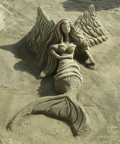 Mermaids Ocean Sea:  #Sand #Mermaid.
