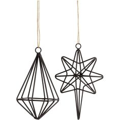 H&M 2-pack Christmas decorations (43 RON) ❤ liked on Polyvore featuring home, home decor, holiday decorations, black, black home decor, christmas holiday decorations, h&m, christmas home decor and christmas holiday decor