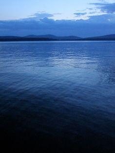 maine lake home view photo