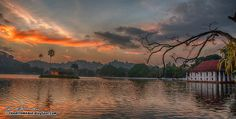 Kandy Lake, Sri Lanka - a large, artificial lake created by the Sinhalese kings in Spice Garden, Island Nations, Holiday Destinations, Maldives, Dusk, Sri Lanka, Wander, Traveling By Yourself, Bliss