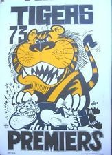 Limited Edition 1973 Weg Premiers poster Richmond Richmond Afl, Richmond Football Club, Australian Football, Dog Houses, Football Players, Baby Knitting, Nostalgia, Football Stuff, Posters